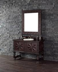 Spanish Colonial Vanity Shops Cars And Spanish - Bathroom vanities solid wood construction