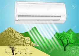 comfortable life air conditioner simbol of comfortable life royalty free cliparts