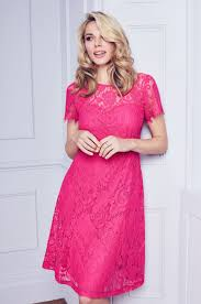pink dress for wedding pink scallop lace midi dress view all dresses dresses lace