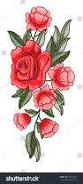 Beautiful Flowers Image Beautiful Flowers Embroidery Rose Embroidery Vector Stock Vector