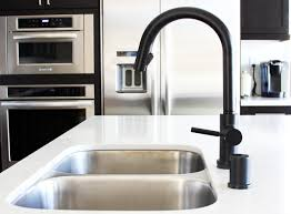 brass matte black kitchen faucet wall mount two handle pull out