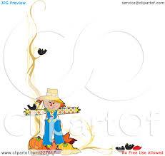 pumpkins border clipart image gallery of scarecrow border clipart