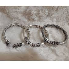 bracelet silver bangles images 925 sterling silver elephant german silver bangles kada rs 150 jpg