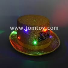 happy new year light up fedora hats tomtoy