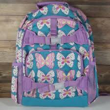 Pottery Barn Mackenzie Backpack Pottery Barn Kids Large Mackenzie Backpack Lavender Teal Butterfly