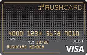 rushcard apply now prepaid visa debit card application