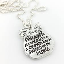 inspirational necklace a pineapple inspirational necklace