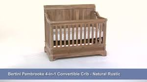 Rustic Convertible Crib Bertini Pembrooke 5 In 1 Convertible Crib Rustic