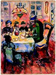 modern passover haggadah passover painting by marc chagall with elijah at the open doorway
