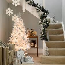 white and silver tree decorating ideas designcorner