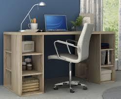 Office Desk Au Bloc Home Office Desk With Storage Shelves Light Sonoma Oak