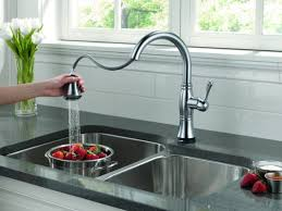 Electronic Kitchen Faucets Faucet Com 9197t Ar Dst Sd In Arctic Stainless By Delta