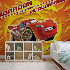 lightning mcqueen disney wall murals for wall homewallmurals co uk dragon lightning mcqueen cars wall murals