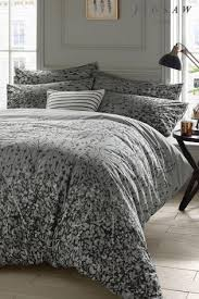 buy jigsaw expressionist grey floral duvet cover from the next uk