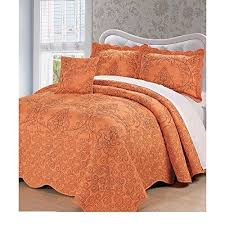 110 x 120 microplush taupe brown quilted bedspread floor queen set