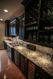espresso cabinets with granite kitchen contemporary with apron