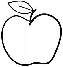 apple coloring page downloadclipart org