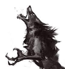 skyrim werewolf sketch by hircine1 deviantart com on deviantart