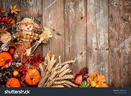 halloween wood background colorful autumn background scarecrow decoration halloween stock