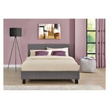4ft bed 4ft small double fabric upholstered bed in wheat