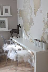 Ghost Console Table A White Lacquer Console Table Neutral World Map And Pair Of
