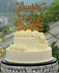 personalized rustic wedding cake topper custom cake topper