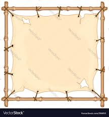 old cloth halloween background old cloth on bamboo frame royalty free vector image
