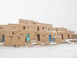 Pueblo Adobe Homes Taos Pueblo Is An Ancient Pueblo Belonging To A Tiwa Speaking