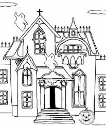 printable spooky house printable haunted house coloring pages for kids cool2bkids