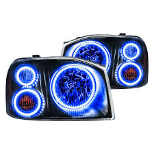 nissan frontier halo headlights oracle lighting nissan frontier 2001 2004 black factory style