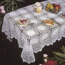 Crochet Table Cloth Embroidered Tablecloth Ebay