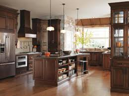 kitchen cabinets cherry finish real life meets high style with this transitional styled kitchen