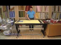 Commercial Fabric Cutting Table Martelli Lacresta Elite Work Station U0026 Cutting Table Youtube