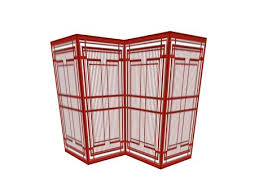 Screen Room Divider Second Life Marketplace Red Lacquer Chinese Lattice 4 Panel