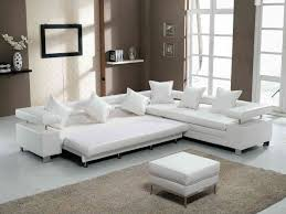 bedroom fabulous living room furniture design with comfortable sofa appealing white rectangle modern leather lazy boy sleeper sofa design furnishing with ottoman square standing
