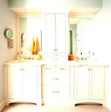 Bathroom Tower Cabinet Makeup Cabinet With Mirror Narrow Bathroom Tower Cabinets