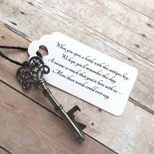 wedding bottle openers diy wedding favors skeleton key bottle openers poem thank