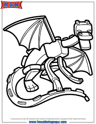 ender dragon coloring minecraft coloring pages