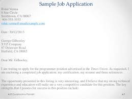 Sample Of Resume For Job Application by Job Application U0026 Resume