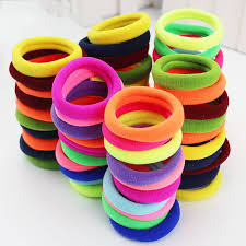 hair rubber bands lot candy fluorescence colored hair holders high quality rubber