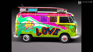 volkswagen bulli 1950 volkswagen camper van 1950 hippy 3d model from creativecrash com