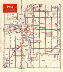 map of tulsa oklahoma route 66 maps