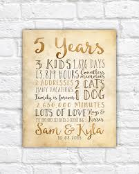 5th wedding anniversary ideas 5 year anniversary gift 5th year of marriage or dating rustic