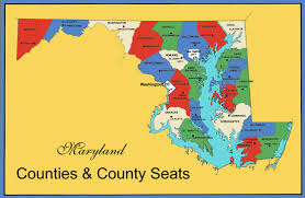counties map maryland counties map counties county seats