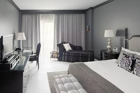 White And Grey Curtains Bedroom Grey Painted Bedroom With Grey Curtains Combined By Black
