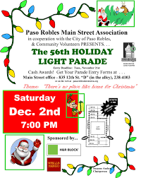 El Paso Christmas Lights by Holiday Light Parade Downtown Paso Robles
