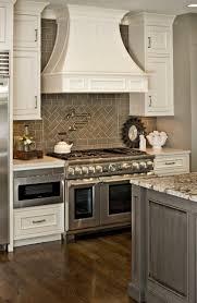 modern kitchen white kitchen cabinets countertops brick tiles