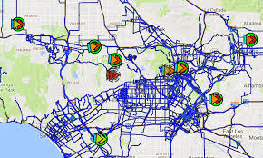 East Los Angeles Map by Solarcast Deployment Los Angeles Safecast