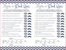 baby shower game mom dad quiz navy blue silver grey