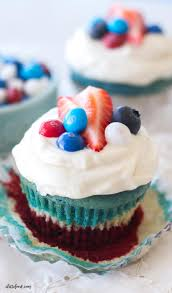 red white and blue velvet cupcakes a latte food